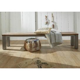 image-Le Havre Wood Bench Massivmoebel24 Size: H45 x W178 x D35cm