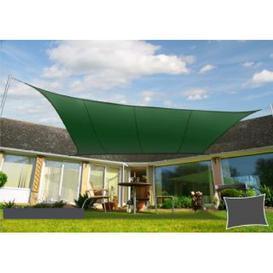 image-Geraint 4m x 4m Rectangular Shade Sail Dakota Fields Colour: Green