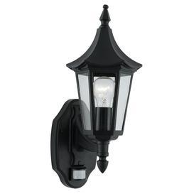 image-Searchlight 14715 Bel Aire Black PIR Outdoor Lantern Wall Light