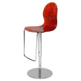 image-Rojas Adjustable Swivel Bar Stool Ebern Designs Colour (Seat): Red