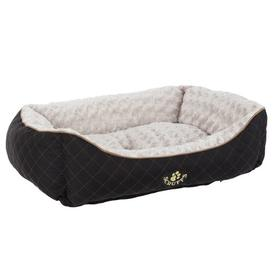 image-Wilton Bolster Cushion Scruffs Size: 16cm H x 50cm W x 40cm D, Colour: Black/White