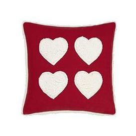 image-Catherine Lansfield Cosy Hearts Cushion