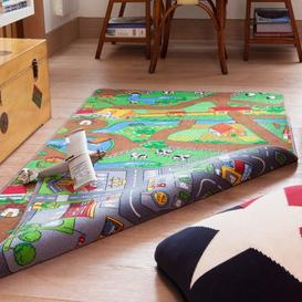 image-Double Sided Farm Town Kids Rug