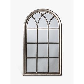 image-Seaforth Arched Window Wall Mirror, 140 x 80cm, Silver