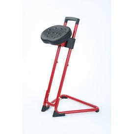 image-Height-adjustable office stool Symple Stuff Colour: Red