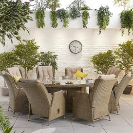 image-Melara 8 Seater Dining Set with Cushions Dakota Fields Colour: Willow
