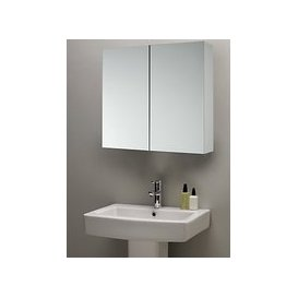 image-John Lewis & Partners Double Mirrored Bathroom Cabinet, White