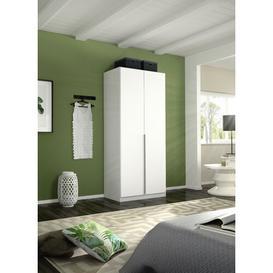 image-Alabama 2 Door Wardrobe Rauch Interior Finish: Basic, Colour: Alpine white