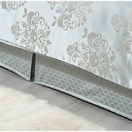image-Gaskill 144 Thread Count Tailored Bed Valance Astoria Grand Colour: Duck Egg, Size: Super King