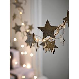 image-Lit Grey Star Garland