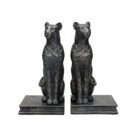 image-Black Leopard Bookends