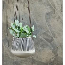 image-Lines Ceramic Hanging Planter