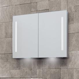 image-Sharleen Double Door Surface Mount Mirror Cabinet with LED Lighting Belfry Bathroom Size: 70cm H x 70cm W x 12.5cm D