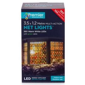 image-Premier 360 LED Multi Action Christmas Net Lights - Warm White