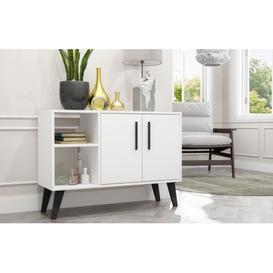 image-Aspen White Sideboard and TV Unit - 2 Doors