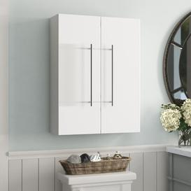 image-Aurum 53 x 70cm Wall Mounted Cabinet Belfry Bathroom Finish: White High Gloss