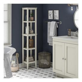 image-Galilee 31Cm W x 158.2Cm H x 25.3Cm D Free Standing Bathroom Shelves