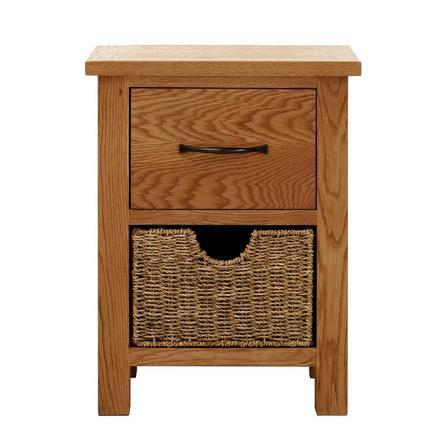 image-Sidmouth Oak 2 Drawer Bedside Table Natural