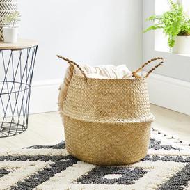 image-Natural Belly Storage Basket Natural