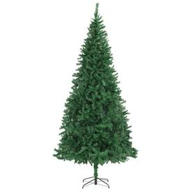 image-10ft Green Pine Artificial Christmas Tree with Stand Berkfield