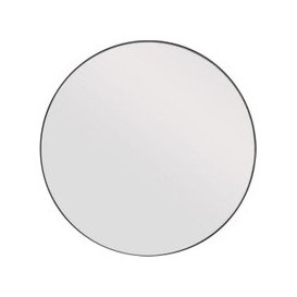 image-Canda Round Mirror with Black Metal Frame - Small