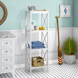 image-Nellie 46cm x 137cm Bathroom Shelf August Grove Finish: White