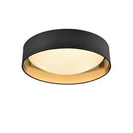 image-C5785 Flush Ceiling Light Shade In Black With Gold Inside With Diffuser