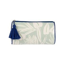 image-Pale Green Case with Foliage Print