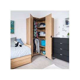 image-Vox Simple Corner Wardrobe - Black