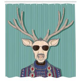 image-Hipster Shower Curtain East Urban Home Size: 180cm H x 175cm W