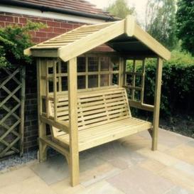 image-Croft Cottage 3 Seat Trellis Garden Arbour