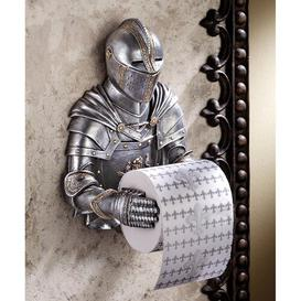 image-A Knight to Remember Gothic Wall Mounted Toilet Roll Holder Design Toscano