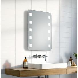 image-Ernest LED Illuminated Bathroom Mirror Wade Logan Size: 63cm H x 100cm W x 3.2cm D