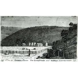 image-A Farm in Canaan, Connecticut, from 'Columbia Magazine', 1789 Graphic Art Magnolia Box Size: Small