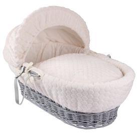 image-Marshmallow Moses Basket Clair De Lune Colour: Cream