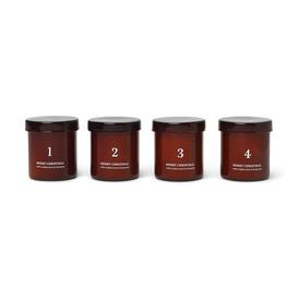 image-Cannelle Scented candle - / Advent calendar - Set of 4 by Ferm Living Red