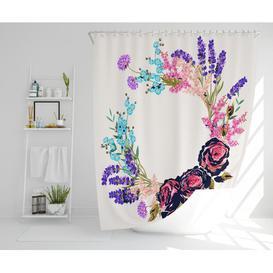 image-Yue Polyester Shower Curtain Set Rosalind Wheeler Size: 177cm H x 177cm W