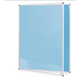 image-Tamperproof noticeboard, 900x1200 mm, light blue
