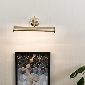 image-4 Light Wall Mounted Picture Light Marlow Home Co. Finish: Antique Brass, Bulb: No