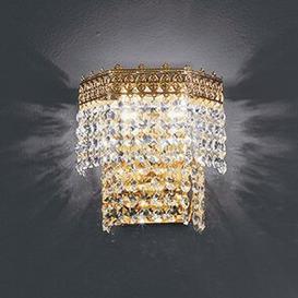 image-Mosca Flush Wall Light Voltolina Size/Finish: 20cm H/24 k Gold