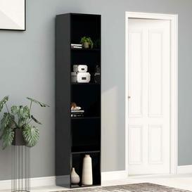 image-Rian Bookcase Mercury Row Colour: High Gloss Black