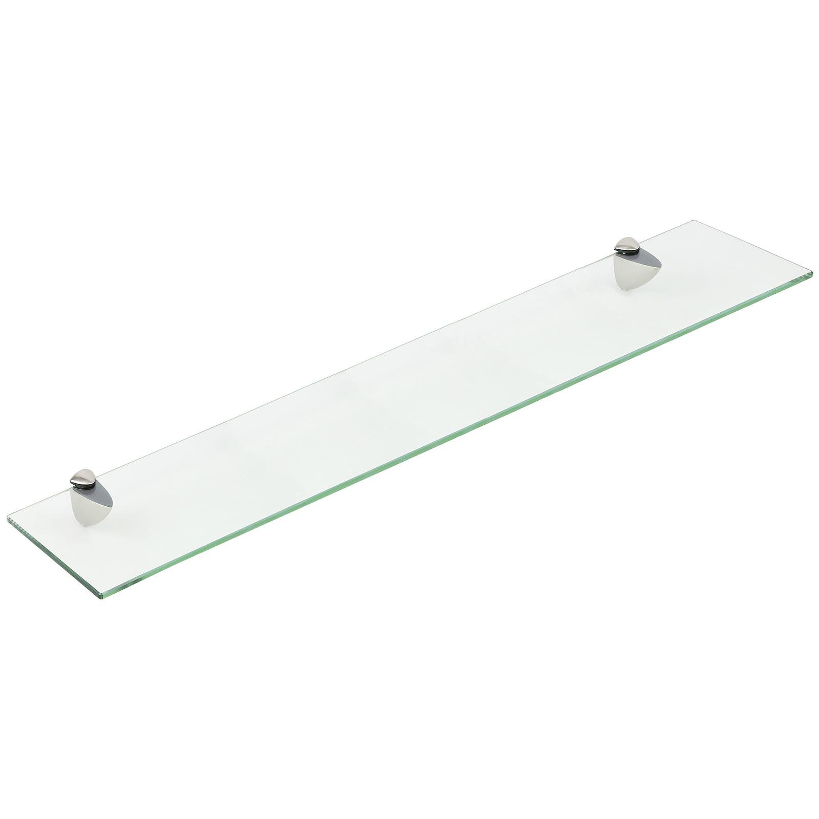 image-Hartleys Clear Floating Glass Wall Shelf - 100cm