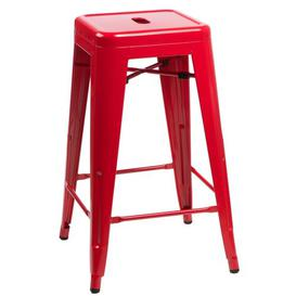 image-Jerome 75cm Bar Stool Williston Forge Colour: Red