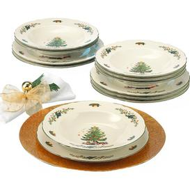 image-Marie Luise Ivory Christmas 12 Piece Dinnerware Set, Service for 6 Seltmann Weiden Size: Special Days Occasion