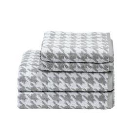 image-Medrano 4 Piece Towel Bale Ebern Designs Colour: Silver/White
