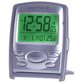image-Vista Radio Controlled Alarm Tabletop Clock Acctim