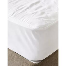 image-M&S Pure Cotton Extra Deep Mattress Protector - SGL - White, White