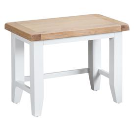 image-Eden Oak and White Nest of 3 Tables
