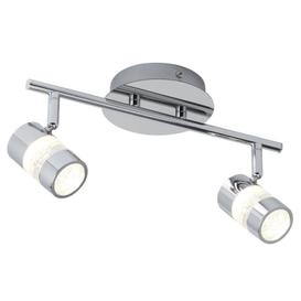 image-Searchlight 4412CC Bubbles 2 Light LED Bathroom Spotlight In Chrome
