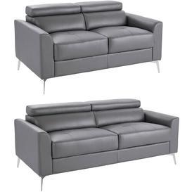 image-Aradia 2 Piece Sofa Set Ebern Designs Upholstery Colour: Grey